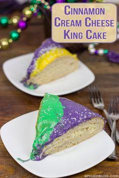 Cinnamon Cream Cheese King Cake | Spiced