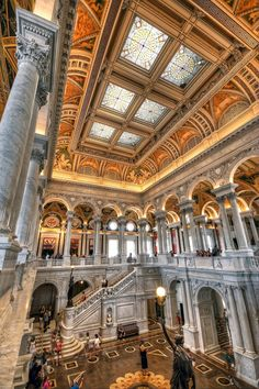 Library Of Congress, Thomas Jefferson Building, Great Hall, Washington D.C.