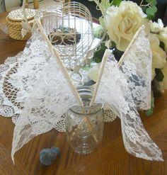 Vintage Lace Wedding Streamers or Flags by bksvintageweddings, $17.50