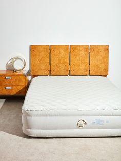 Burl Headboard by Lane – Coming Soon 1970s Furniture, Lane Furniture, Modern Furniture, Furniture Ideas, Milo Baughman, Headboard Designs, Queen Size Bedding, Minimalist Design, Bed Frame
