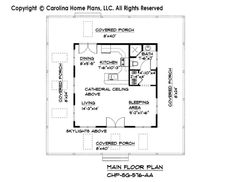 Tiny Cottage Style House Plan SG-576 Sq Ft | Affordable Small Home Plan under 600 Square Feet - Cottage Style House Plans, Craftsman Style House Plans, New House Plans, Small House Plans, House Floor Plans, Georgian Style Homes, Rm 1, European House, Home Design