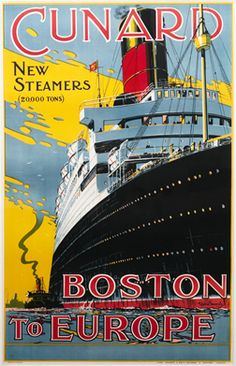 Ate at a restaurant in MI with a great display of local vintage travel posters... I bet there are a lot for Boston.