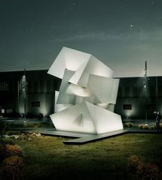 at the cosentino headquartes in almeria, spain, studio daniel libeskind uses the company's material in a dynamic sculpture placed outside. Plans Architecture, Landscape Architecture Drawing, Chinese Architecture, Architecture Office, Futuristic Architecture, Contemporary Architecture, Deconstructivism, Daniel Libeskind, Zaha Hadid Architects