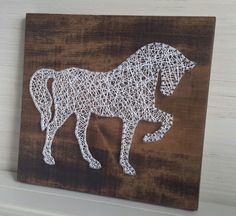 String Art Horse Unique gift for Horse Lover by CarolinaStrings