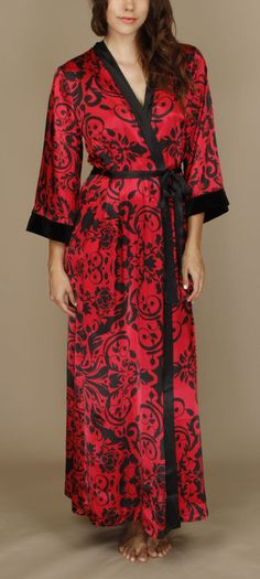 "In Bloom by Jonquil - ""Serenade Satin Robe"" Golden Girls a417f524d"