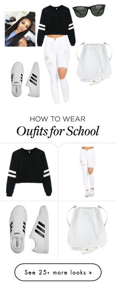 """Back to school"" by onomeosioh222 on Polyvore featuring adidas and Ray-Ban"