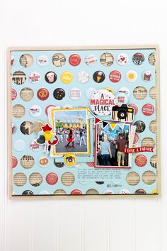 May Projects-1412 Disney Scrapbook, Scrapbook Layouts, Make Your Own, Make It Yourself, Echo Park Paper, Cute Pins, Make A Wish, Scrapbooks, Patches