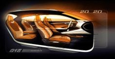 SEAT boss Jürgen Stackmann unveiled the brand's Vision 2020 concept car at last night's Volkswagen Group media event, a prelude to today's official opening of the Geneva motor show. Car Interior Sketch, Car Interior Design, Interior Design Sketches, Interior Rendering, Automotive Design, Interior Design Inspiration, Daily Inspiration, Sporty Suv, Seat Cupra