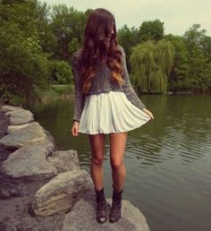 cute skirt and sweater ♡