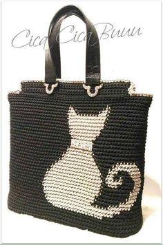 Crochet patterns for knitting bags Tapestry Crochet Patterns, Crochet Stitches, Knit Crochet, Knitting Patterns, Free Knitting, Crochet Handbags, Crochet Purses, Crochet Tools, Crochet Projects