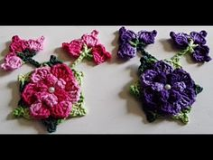 Flor Arraial - Muito linda, veja como fazer!!! - YouTube Crochet Flower Tutorial, Crochet Diy, Learn To Crochet, Crochet Shawl, Crochet Flowers, Crochet For Beginners, Handmade Flowers, Crochet Earrings, Make It Yourself