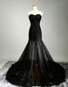 Black sweetheart lace up applique tulle long floor-length Prom Dresses Gown special high quality,Cheap prom gown BD1705600