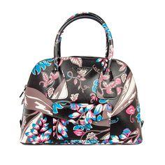 Prada Saffiano Floral Bag - 2014 black leather tote fairy - NEW with Tags! #PRADA #TotesShoppers