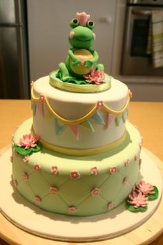 Baby Shower - This was a lovely cake for a baby shower and the mother to be loves frogs.