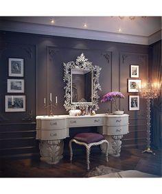 Luxury vanity luxury vanity tables the orphanage beauty room vanity room and home luxury bath vanity Vanity Room, Vanity Set, Vanity Ideas, White Vanity, Vanity Decor, Mirror Ideas, Closet Vanity, Small Vanity, White Mirror