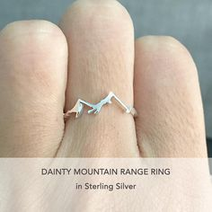 Mountain Range Ring Silver Mountain Ring Dainty Ring For Dainty Ring,  Dainty Jewelry, Jewelry 99c90eefe8d