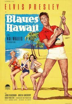 Elvis Presley - Blue Hawaii - German Poster - Mini Print