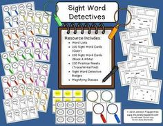 Sight Word Detectives - Trace/Write/Find  Great for centers, word work, and homework.   #msjocelynspeech #ELA #sightwords
