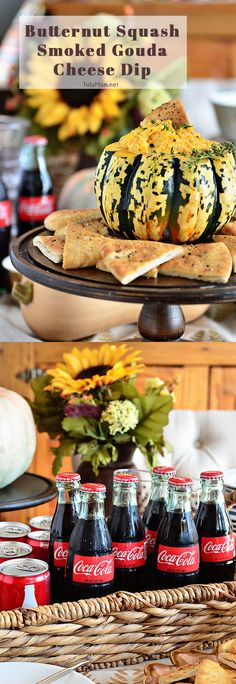 Take your Thanksgiving table to the next level with this Butternut Squash Cheese Dip and Coca-Cola self-serve drink bar. Our partner Cheryl shares all the details. #iworkwithcoke
