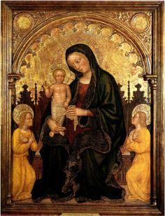 Madonna with Child and Two Angels Gentile da Fabriano - Gentile da Fabriano