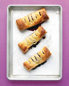 Try any fresh or frozen fruit for these handheld pies (we used blueberries). A little cinnamon is great with apples and pears. If using frozen fruit, increase sugar to 1/2 cup.