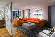www.andrearodman.com slat wall / back lit shelving / sectional /  modern furniture