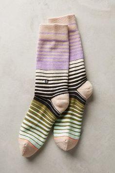Anthropologie Spectrum Stripe Socks