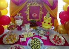 Belle birthday party ideas. For the goodie bags give kids books instead of candy or junk.
