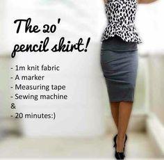Pencils skirt