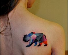 I'm not really into bears, but this tattoo is so pretty!