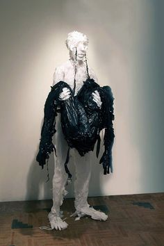 Artist Khalil Chishtee is a sculpter creating human form from discarded plastic bags. His works often express the feelings of sorrow, dejection and even vi