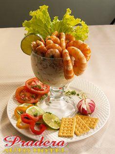 Coctel de Camarones en Salsa Afrodisiaca.