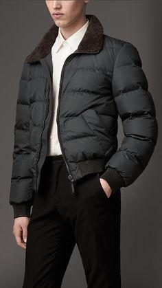 Men's Burberry Collar Blouson Coat