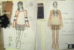 Fashion Sketchbook - fashion design drawings & fabric swatches - fashion designer's process; fashion portfolio // Raffaele Ascione