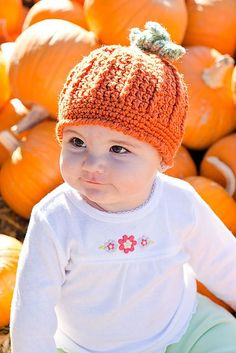 Ravelry: Pumpkin Harvest Hat pattern by Cathy Kurtz Crochet free pattern-size depends on hook size and yarn used-tips abt sizing provided on ravelry page