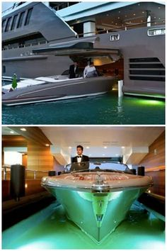 This is living!!! J'Ade yacht by CRN - Floating garage ( Concept )