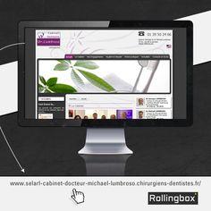 Réalisation du site internet du Dr. Lumbroso, chirurgien-dentiste à Versailles dans les Yvelines.   Plus d'informations sur : http://www.selarl-cabinet-docteur-michael-lumbroso.chirurgiens-dentistes.fr/  #web #internet #rollingbox