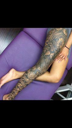 Best 40 Most Popular Leg Tattoos Ideas for Women #Ideas #Leg #Most #Popular #Tattoos #Women