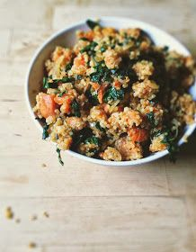Recipes to Nourish: Guest Post: Roasted Sweet Potato, Kale + Sage Skillet Quinoa by With Food + Love