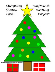 FREE Christmas Shapes Tree Craft and Writing Project