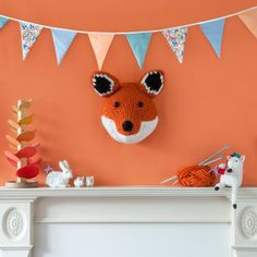 GIANT Fox Head Knitting Kit Make Your Own by sincerelylouise