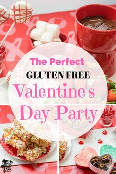 A Gluten Free Valentine's Day party is easier than you think. A fondue bar, chocolate covered pretzels, homemade chocolates and marshmallow popcorn bars are the perfect valentine's treats. Homemade gluten free treats make for gluten free valentine's day fun that even the kids can get involved in! Make valentine's for teachers, neighbors and friends. #glutenfreevalentinesday