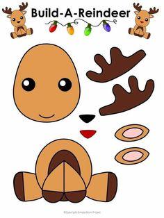 Desenhos de animais para recortar e colar Kids Crafts, Daycare Crafts, Toddler Crafts, Preschool Crafts, Preschool Age, Christmas Crafts For Kids To Make Toddlers, Easy Crafts, Diy Christmas Ornaments, Kids Christmas