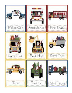 Preschool Printables- transportation theme