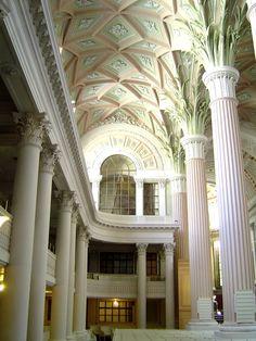 Nicolai-Kirche Leipzig, gestrichen mit Kreidezeit Kasein Marmormehlfarbe, erhältlich bei www.naturfarben-potsdam.de