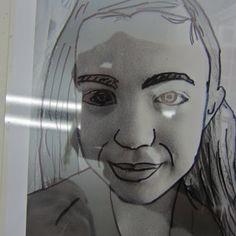 Dali's Moustache: Layered Self Portraits