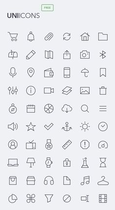 Uniicons Thin OutLine Icons (PSD) - 200 Icons #UXdesign #android #freeicons #psdicons #ios8 #vectoricons Website Menu, Web Mockup, Travel Icon, Android Ui, Ios Icon, Icon Design, App Design, Pictogram, User Interface Design