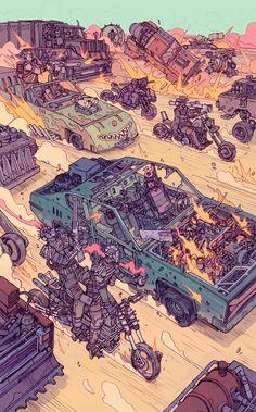 Gas Mask Art, Masks Art, Dark Fantasy, Fantasy Art, Post Apocalyptic Art, Cyberpunk 2077, Science Fiction Art, Environment Concept Art, Cartography
