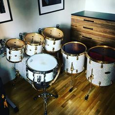 My setup Pearl Drum References White Marine Gold Dennis Chambers Signatures Snare #drums #drummer #pearldrum #pearldrums #snare #music #safaktahtaci #drumsticks #drumset #instamusic #white #gold #instacool #instamood #instalike #musician #drumkit #musically