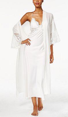 c310780c0 Farrah Bridal Charmeuse   Lace Peignoir Set (Large only)